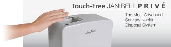Touch-Free Janibell PRIVÉ The Most Advanced Sanitary Napkin Disposal System