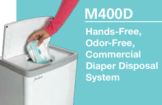 Hands-Free, Odor-Free, Commercial Diaper Disposal System