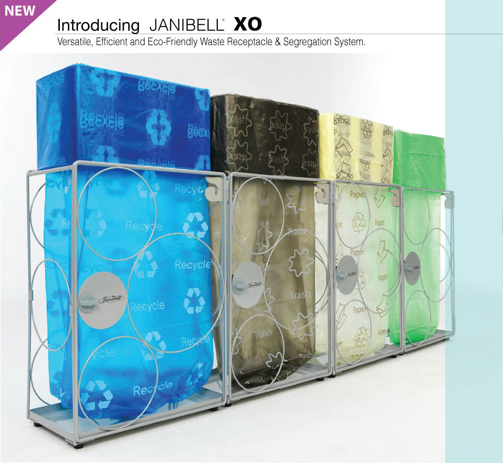 Introducing JANIBELL XO Versatile, Efficient and Eco-Friendly Waste Receptacle & Segregation System.